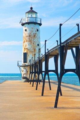 Fototapeta Jezioro Michigan Lighthouse