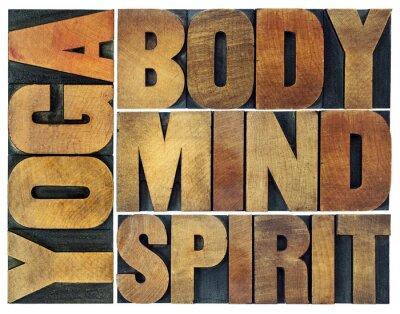 Fototapeta joga, ciało, umysł, dusza i duch