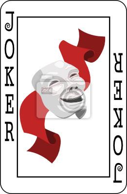 Joker Karty Z Talii Kart Do Gry Fototapeta Fototapety Karty Do Gry