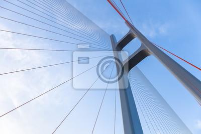 Fototapeta kabel most wiszący zbliżenie