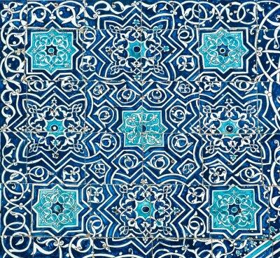 Fototapeta Kafelki tło z orientalnymi ornamentami