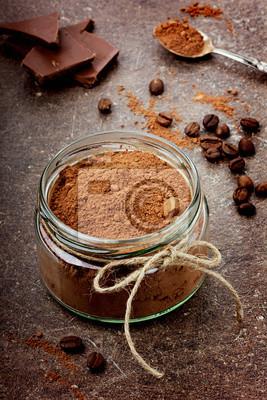 Kakao w szklane z ciemnej czekolady