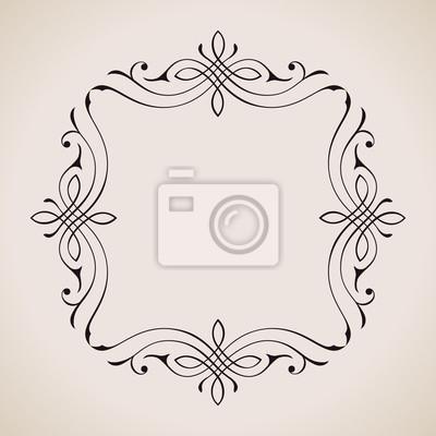 Fototapeta Kaligraficzne i dekoracji strony ramki. Wektor archiwalne