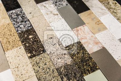 Kamienia Blat Kuchenny Próbki Kolorów Fototapeta Fototapety Blat