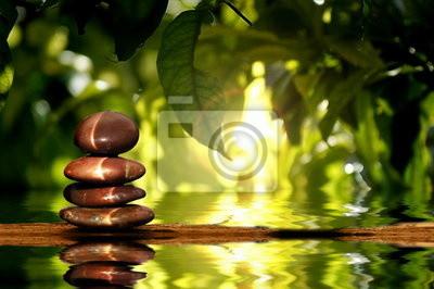 Fototapeta Kamienie na wodzie
