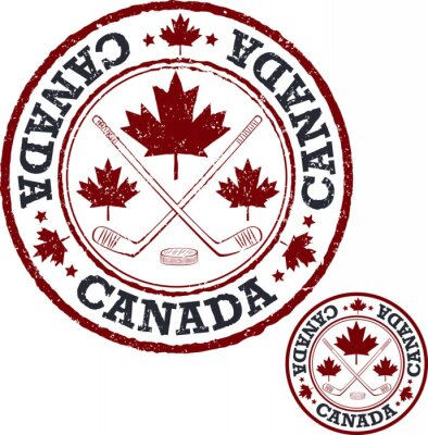 Fototapeta Kanadyjski znaczek hokeja.