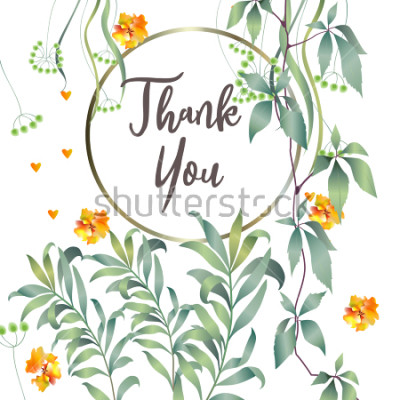 Fototapeta Karta botaniczna z liści monstera, kwiaty. Pojęcie ornament wiosny. Kwiatowy plakat, zapraszam. Wektor układ ozdobny kartkę z życzeniami lub zaproszenie wzór tła. Ręcznie opracowane ilustracje