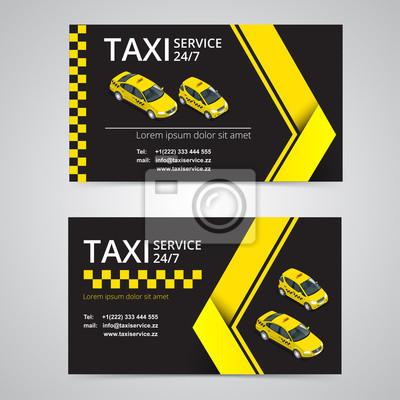 Fototapeta Karta Taxi Dla Taksówkarzy Taxi Wektor Wizytówka Szablon Firma