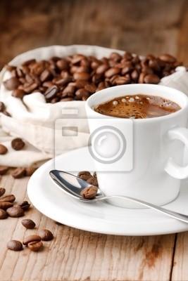 Fototapeta kawa na stole
