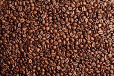 Fototapeta Kawa tło fasola zbliżenie