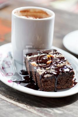 Fototapeta kawa z brownie