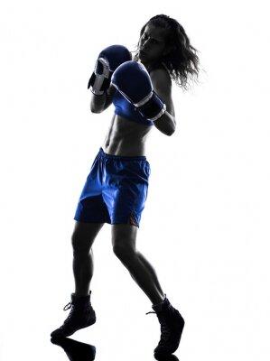 Fototapeta kickboxing bokser kobieta sylweta samodzielnie