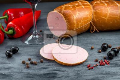 Fototapeta Kiełbasy gotowane