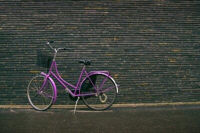Fototapeta Klasyczne Vintage Purpurowy Hipster rowerów na ulicy