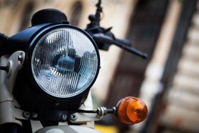 Fototapeta Klasyczny reflektor motocykla