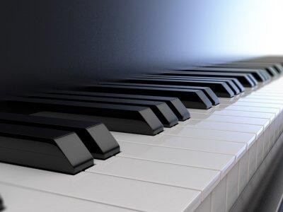 Fototapeta klawiatura fortepianu