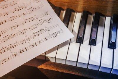 Fototapeta Klawisze fortepianu i nuty