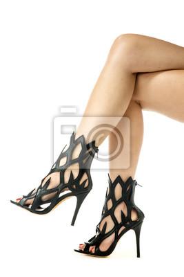 b77c1059c4c0 Kobiece nogi w modne buty na obcasie Fototapeta • Fototapety symbol ...