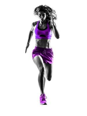 Fototapeta Kobieta jogging biegacz sylwetka jogger