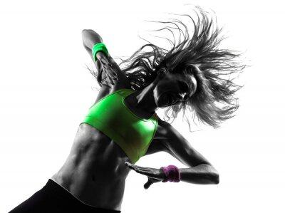 Fototapeta kobieta wykonywania przydatności sylwetka taniec zumba
