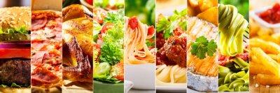 Fototapeta kolaż z produktów spożywczych