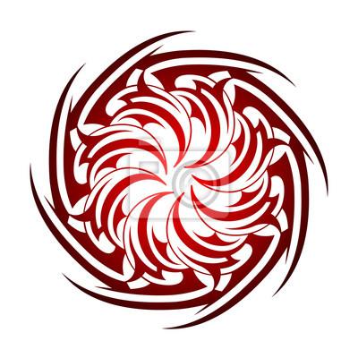 Koło Styl Tatuaż Celtycki Fototapeta Fototapety Celtic Maori