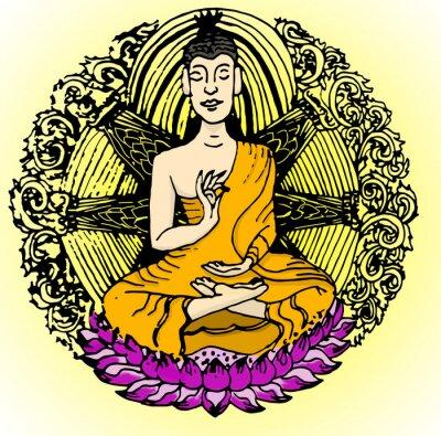 Fototapeta kolor Buddha.