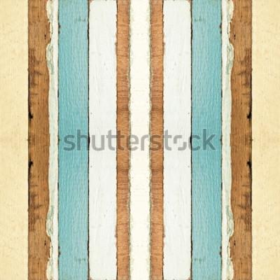 Fototapeta Kolorowa bezszwowa stara drewno desek tekstura, może używać dla tła
