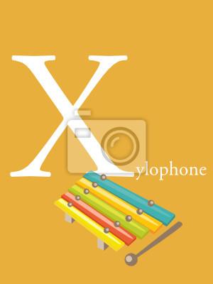Kolorowe Abc Litera X Ilustracji Wektorowych Fototapeta