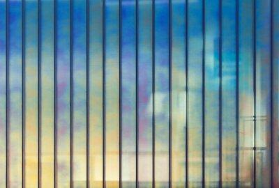 Fototapeta Kolorowe biura ściana ze szkła, tło