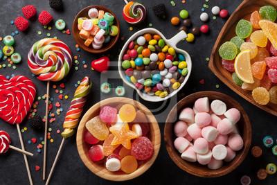 Fototapeta Kolorowe cukierki, galaretki i marmolady