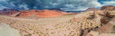 Fototapeta Kolorowe formacje skalne w Quebrada de Cafayate, Argentyna