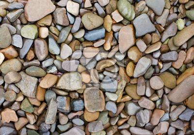 Fototapeta Kolorowe kamyki na plaży