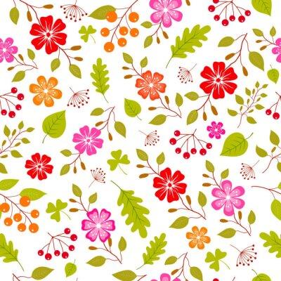 Fototapeta Kolorowe kwiaty bez szwu