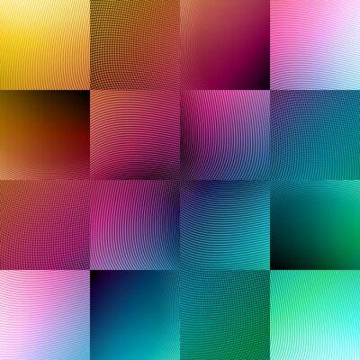 Fototapeta kolorowe linie broszura szablon i układ