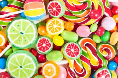Fototapeta Kolorowe lizaki i cukierki