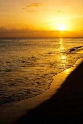 Fototapeta Kolorowe morze zachód słońca.