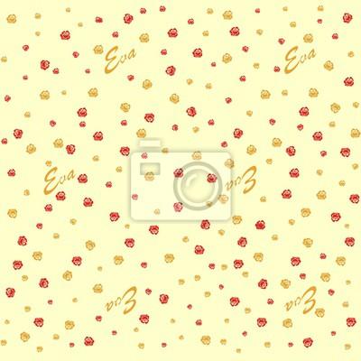 Fototapeta Kolorowe streszczenie kwiatowy wzór. Jednolite wektora background.Wallpaper z róż.