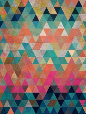 Fototapeta Kolorowe stylu antycznym trójkąty z tła