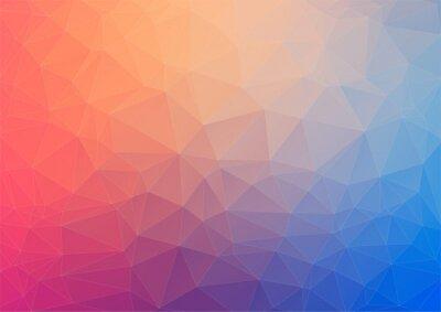 Fototapeta Kolorowe tło geometryczne z trójkątów