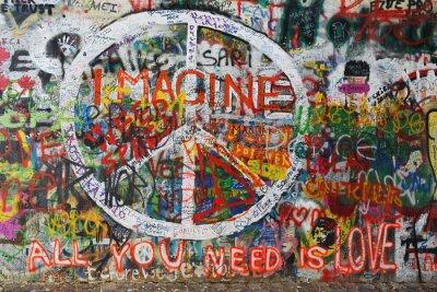 Fototapeta Kolorowy pokój graffiti na ścianie