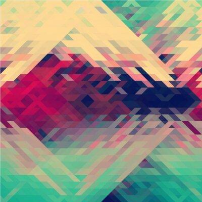 Fototapeta Kolory tęczy trójkątny wektor wzorca