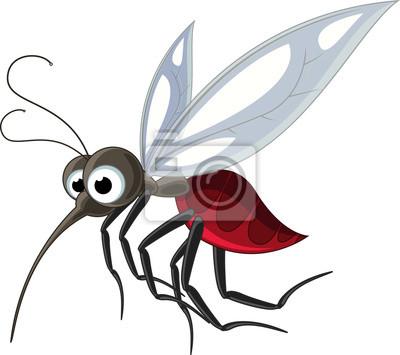 Fototapeta komara kreskówka na zaprojektowanie