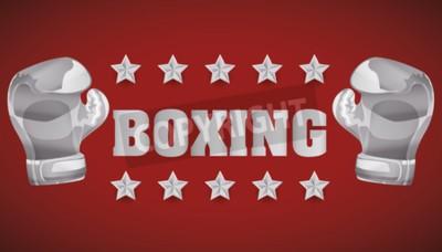 Fototapeta Koncepcja Boxing z mistrzowskich ikony projektowania, ilustracji wektorowych 10 eps grafiki.