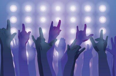 Fototapeta Koncert rockowy. Ręce do góry.