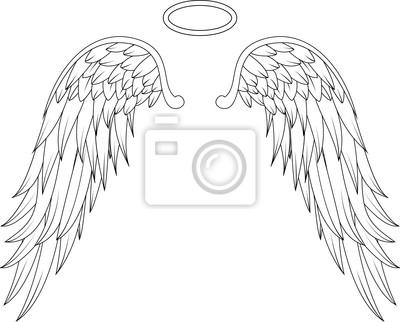 Fototapeta Konstrukcja skrzydła anioła tatuaż