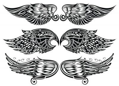Fototapeta Konstrukcja Skrzydła Tatuaż