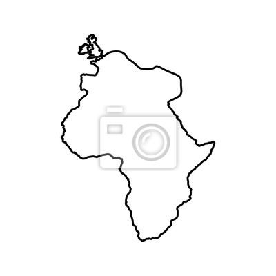Kontur Afryki Ikone Kontynentu Mapa Swiata Projektowania