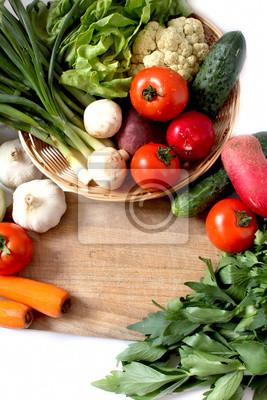 Fototapeta Kosz z warzyw i zieleni