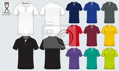 445bf8221 Fototapeta Koszulka polo t shirt szablon projektu sportowego na koszulkę  piłkarską, zestaw piłkarski lub klub
